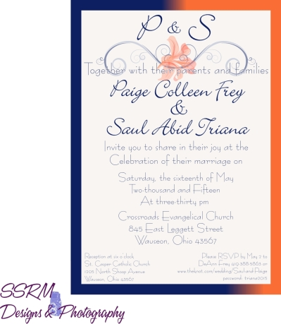 Paige & Saul Wedding Invites