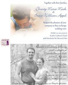 Appel & Mack Wedding Invites 1