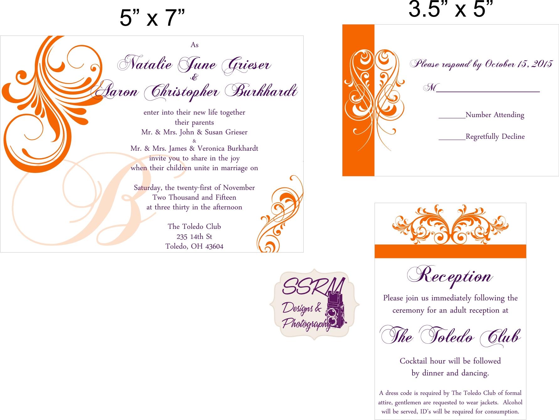 Wedding invitations ssrm designs photography grieser burkhardt wedding invites 1 stopboris Image collections
