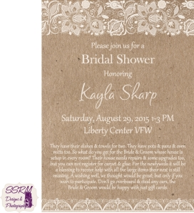 Kayla Sharp Bridal Shower Invitations 1