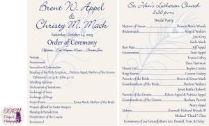 Appel & Mack Wedding Programs 1