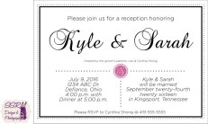 Cindy Shong Wedding Reception Invitations 1
