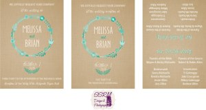 Melissa Michaelis & Brian Allen Wedding Invitations
