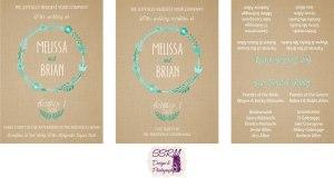 Melissa Michaelis & Brian Allen Wedding Invitations