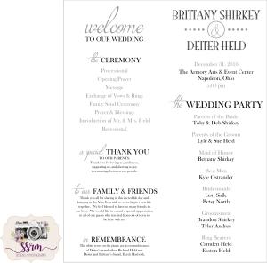 shirkey-held-wedding-programs
