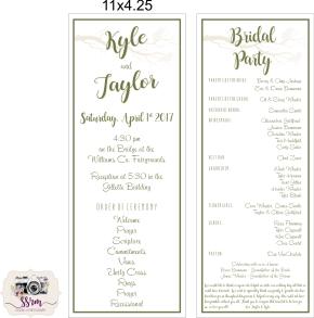 Christine Wheeler Taylor & Kyle Wedding Programs