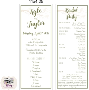 Christine Wheeler Taylor & Kyle Wedding Programs