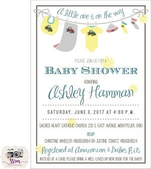 Christine Wheeler Baby Shower Invitation 2017