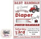 Justin Hamman Diaper Party Invitations