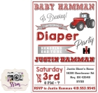 Justin Hamman Diaper Party Invitations