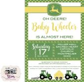 Christine & Noah Wheeler Baby Shower Invitation 1