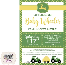 Christine & Noah Wheeler Baby Shower Invitation 1