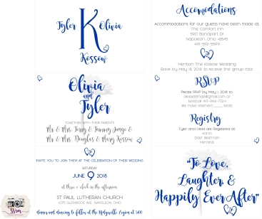 Tyler & Olivia Kossow Wedding Invitations