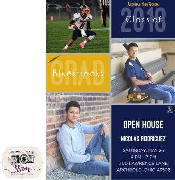 Nic Rodriguez Senior 2018 Graduation Invitation