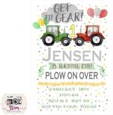 Ashley Hamman Jensen 1st Birthday Invitation