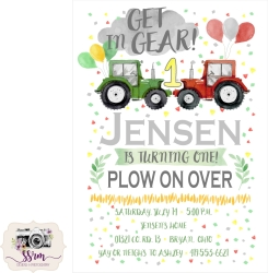 Ashley Hamman Jensen 1st Birthday Invitation