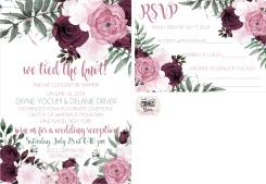 Delanie Driver Wedding Reception Invitations 2018
