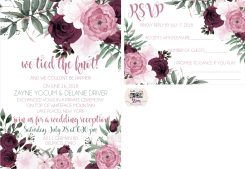 Delanie Driver Wedding Reception Invitations 2018