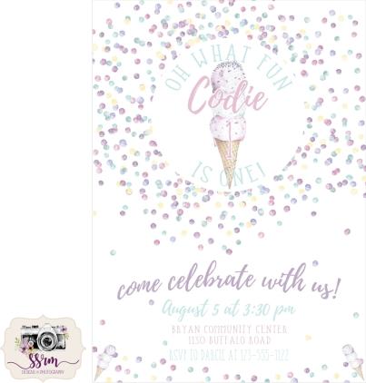 Darcie Coy 1st Birthday Invitations Fake Phone