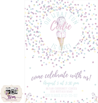 Darcie Coy 1st Birthday Invitations Fake Phone