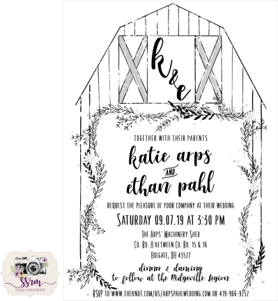 Katie & Ethan Wedding Invitation